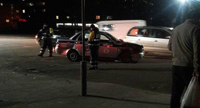 В Пинске автомобиль ГАИ попал в ДТП