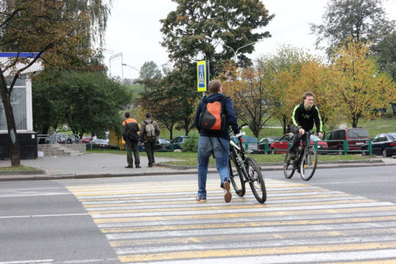 ГАИ напоминает велосипедистам о правилах дорожного движения