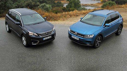 Сравнительный тест автомобилей Peugeot 5008 и VW Tiguan