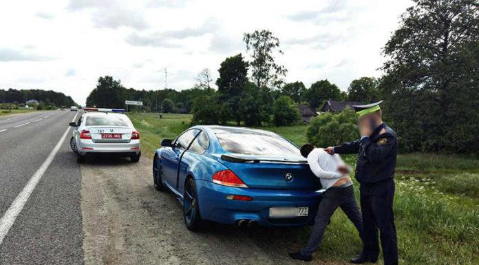 нарушитель на BMW