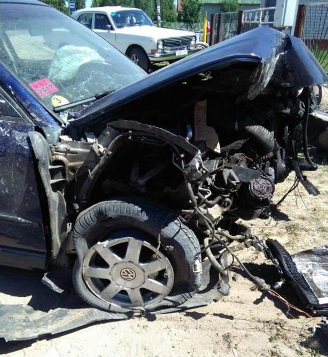 В Ивановском районе Volkswagen въехал в дом