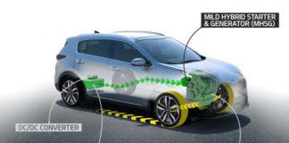 Обновленный Kia Sportage получит гибридную силовую установку