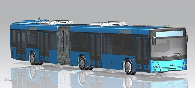 МАЗ выпустит первый автобус с «толкающим» приводом