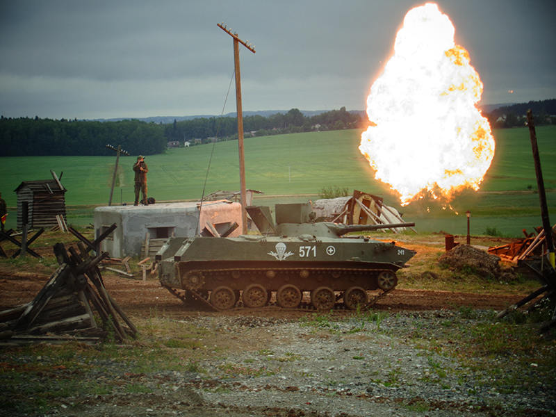 «Танковый биатлон БМП-1» прошел на ИКК «Линия Сталина»