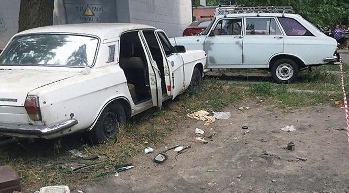 Четверо детей пострадали при взрыве автомобиля в Киеве