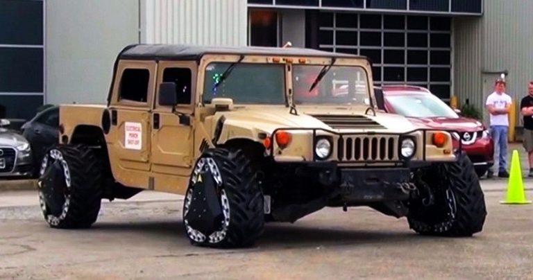 Для военных придумали колесо-трансформер