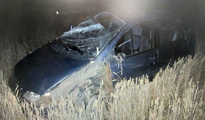 В Несвижском районе Renault вылетел в кювет и перевернулся
