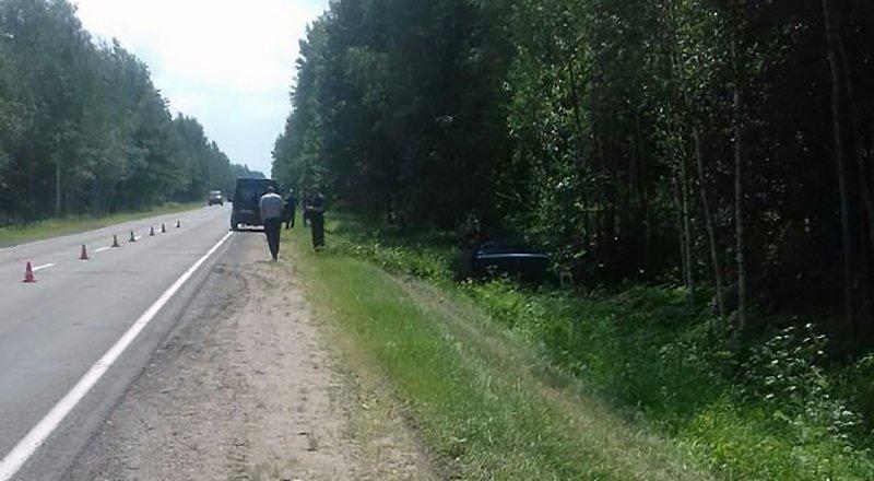 В Могилевском районе опрокинулась маршрутка с пассажирами