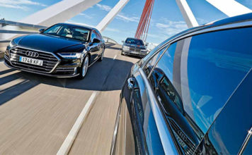 Сравнительный тест автомобилейAudi A8, BMW 7-серии и Mercedes-Benz S-класса