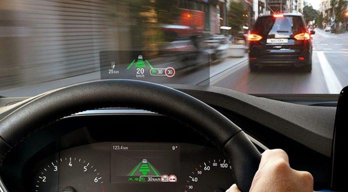 FORD представил новый проекционный дисплей