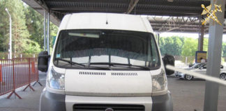В пункте пропуска «Берестовица» изъяли микроавтобус