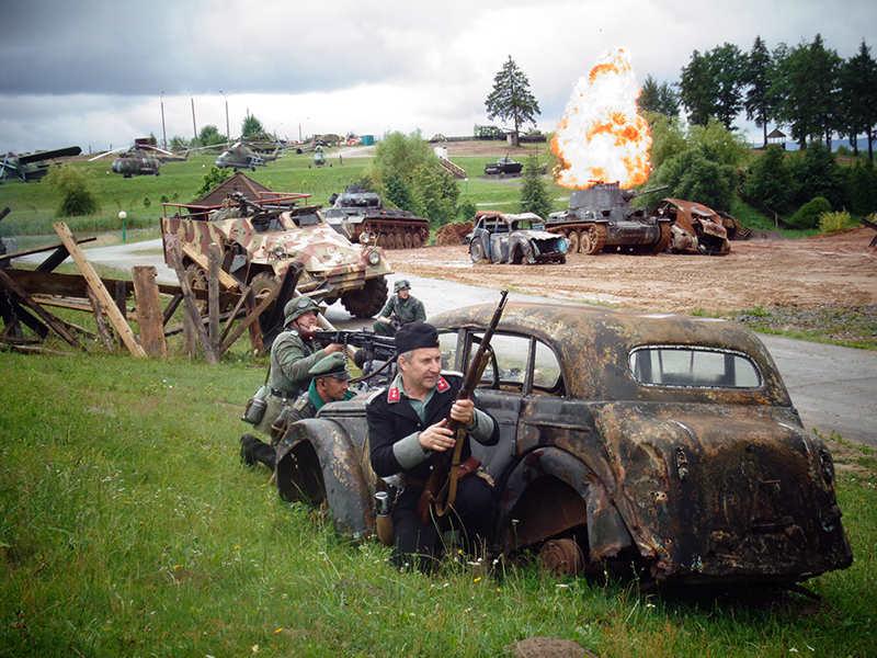 Немцы обороняются