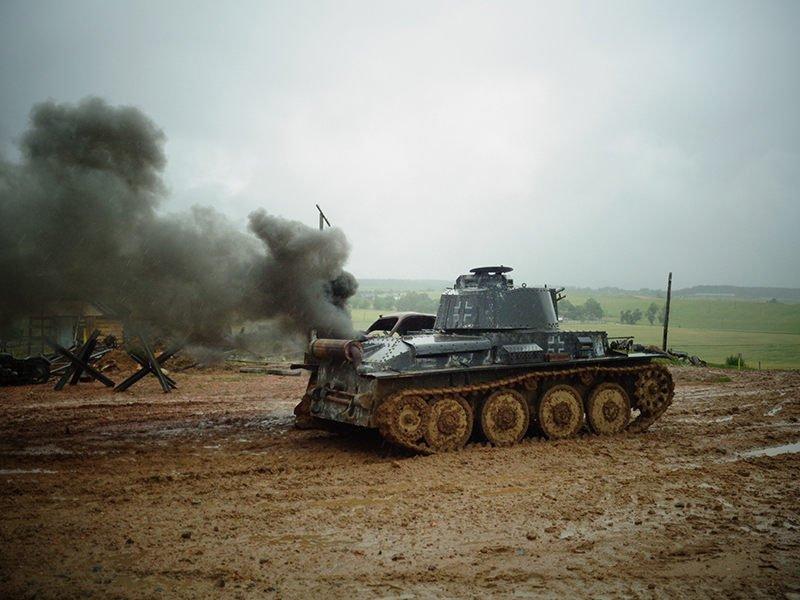 Подбитый немецкий танк Pz-38