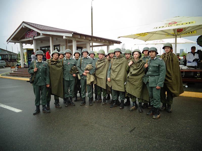 Военно служащие белорусской армии - участники реконструкции