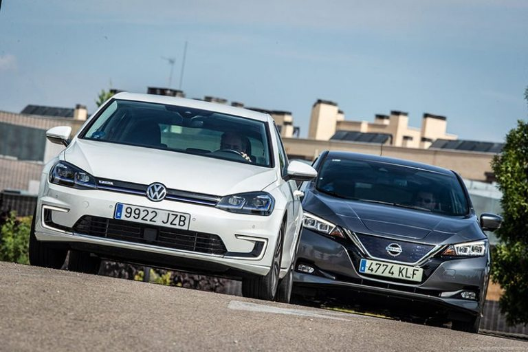 Сравнительный тест автомобилейNissan Leaf и Volkswagen e-Golf