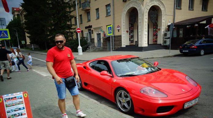 Гомельчанин Виталий и его красный FERRARI 360 MODENA