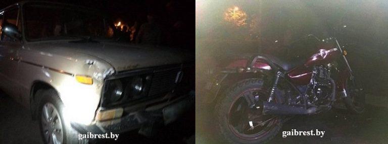 В Ольшанах в ДТП пострадал подросток-мотоциклист