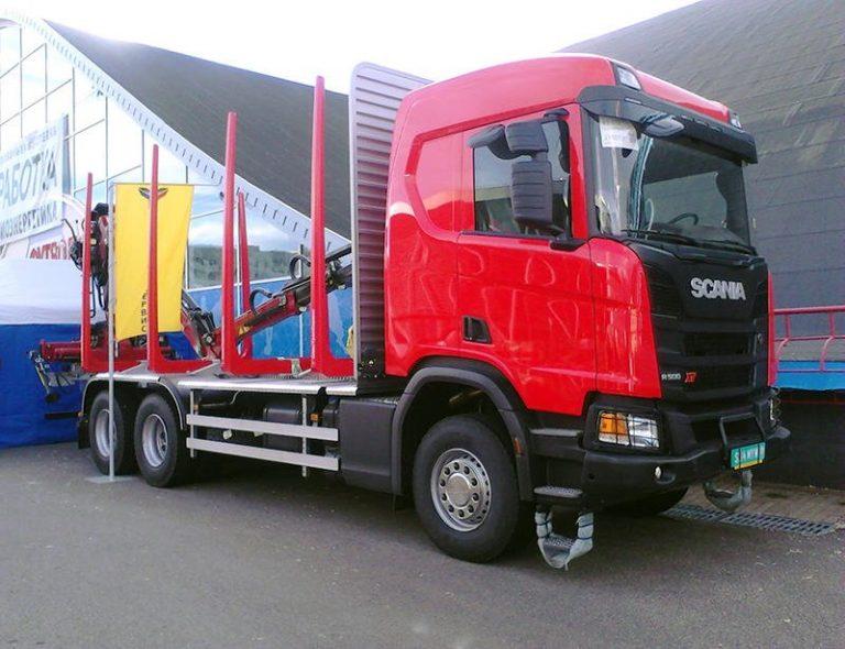Сортиментовоз на базе Scania