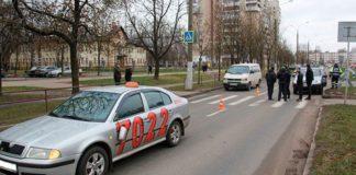 В Витебске таксист на переходе сбил пенсиона