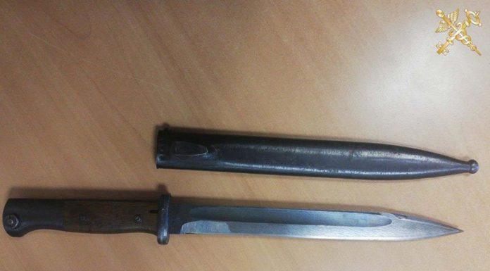 Немецкий штык-нож конца XIX века незаконно перемещался через границу