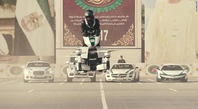 Полиция Дубая получила первый ховербайк
