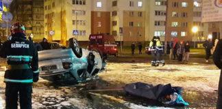 В Гомеле автомобиль въехал в столб и перевернулся: водитель погиб