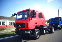 МАЗ-5340С2 на выставке на автозаводе