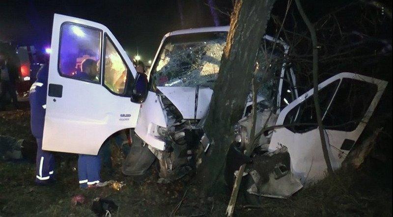 Микроавтобус с белорусами попал в ДТП в Калужской области