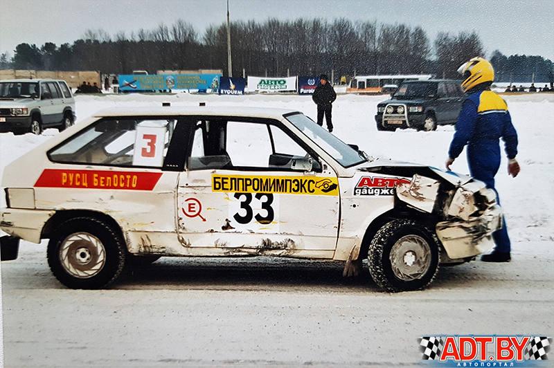 Горячий лед в Боровой. Разбит автомобиль Александра Куделко