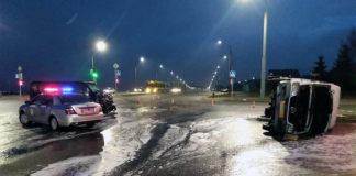 В Гродно перевернулась маршрутка