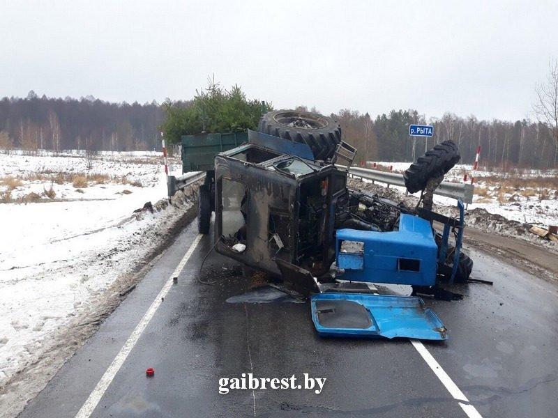 ДТП в Малоритском районе: погиб водитель трактора