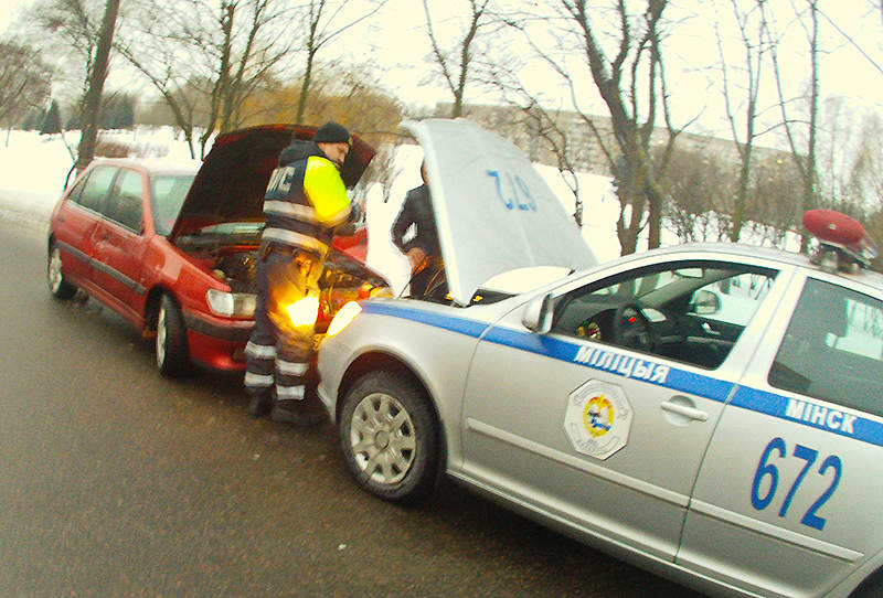 ГАИ оказывает помощь водителям
