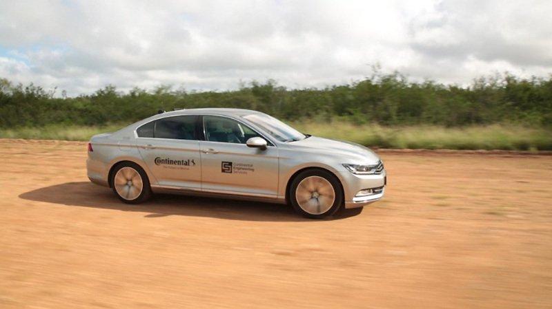 Continental впервые проводит испытание шин при помощи беспилотных автомобилей