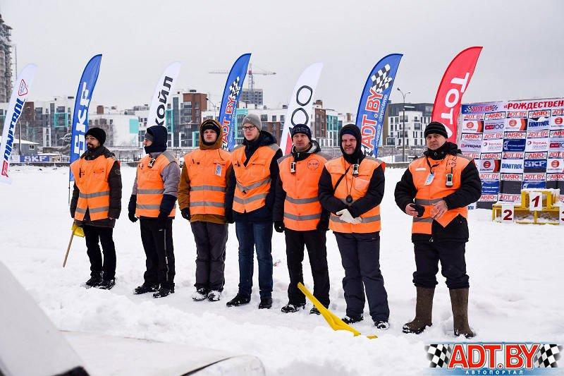 Судейская бригада на Рождественских гонках в Боровой