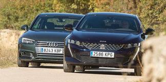 Сравнительный тест автомобилейAudi A4 и Peugeot 508