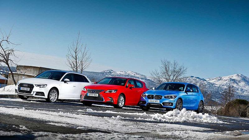 Audi A3 Sportback G-Tron, BMW 116d и Lexus CT 200h