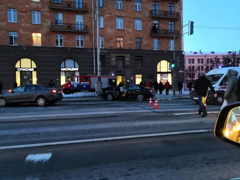 В Минске на проспекте Независимости произошло ДТП