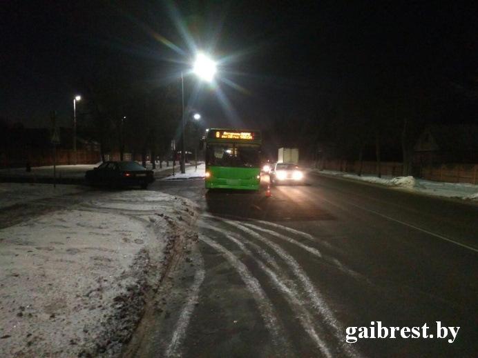 Audi влетела в автобус