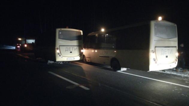 Два автобуса со школьниками столкнулись под Червенем