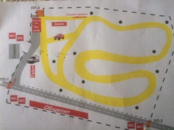 Схема трассы под Боруйском