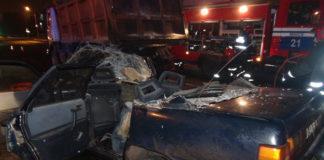 В Минске Audi влетела под самосвал: один человек погиб