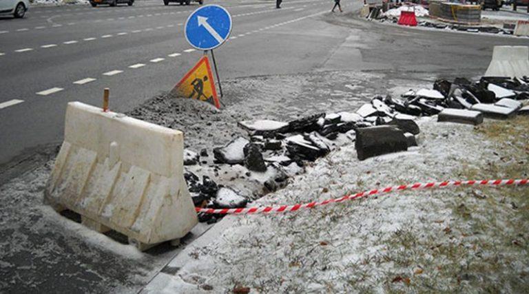 Дорожные службы круглосуточно ремонтируют дороги Минска