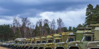 Военная техника проследует по дорогам трех областей Беларуси 15 февраля