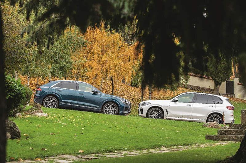 Сравнительный тест автомобилейAudi Q8 и BMW X5