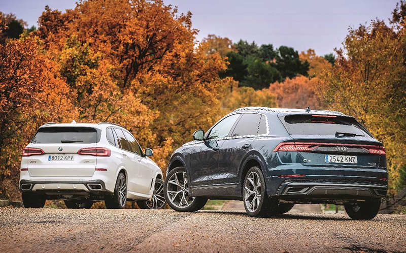 Audi Q8 и BMW X5