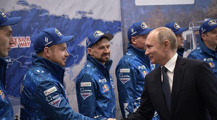 Владимир Путин встретился с командой «КАМАЗ-МАСТЕР»