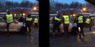 Под Владимиром инспекторы выставили «живой щит» из машин обычных горожан