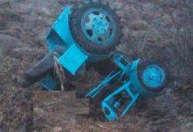 Самодельный трактор перевернулся и насмерть придавил водителя