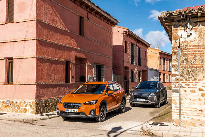 Сравнительный тест автомобилейMitsubishi Eclipse Cross и Subaru XV