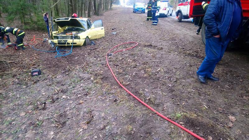 Водитель Audi не справился с управлением во время обгона